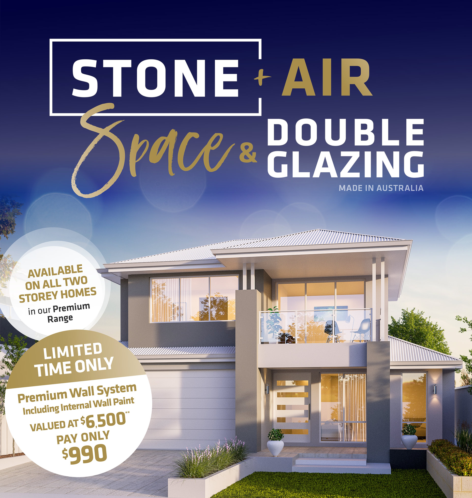 101 Residential Stone Air Space Glazing promotion banner