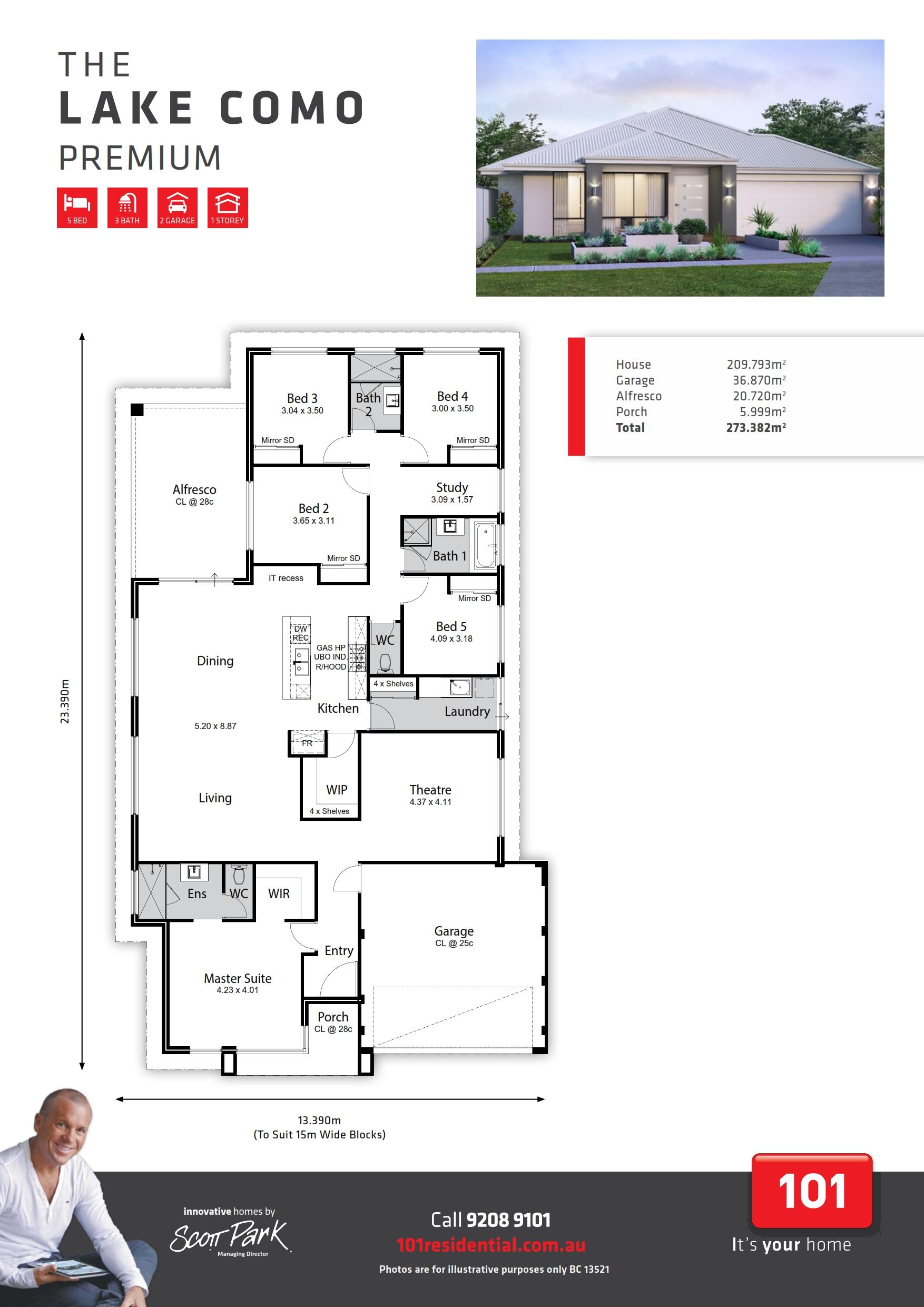 101 A3 Floor Plan - Lake Como WEB_001