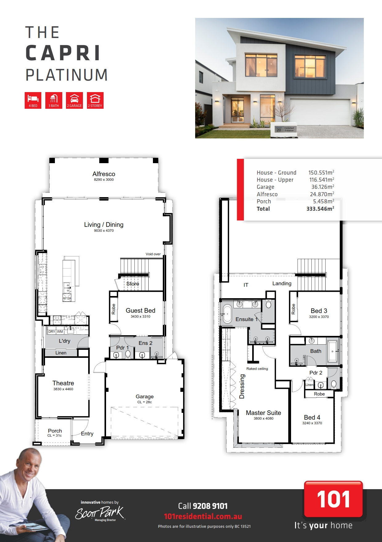 101 A4 Floor Plan - Capri Platinum WEB_001