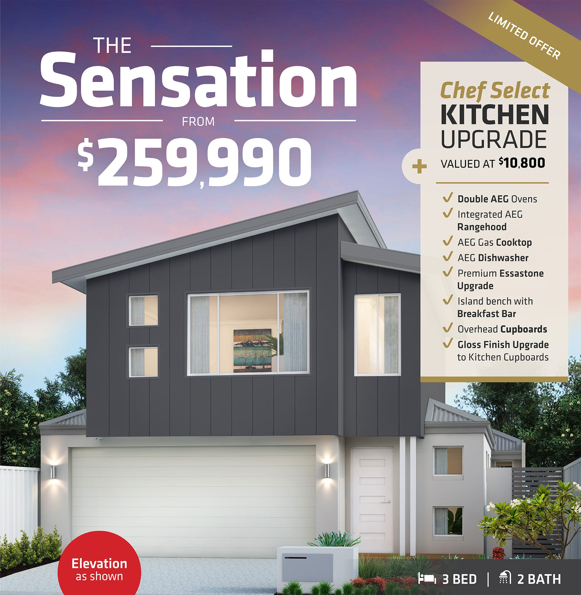 101 Residential The Sensation promotion banner