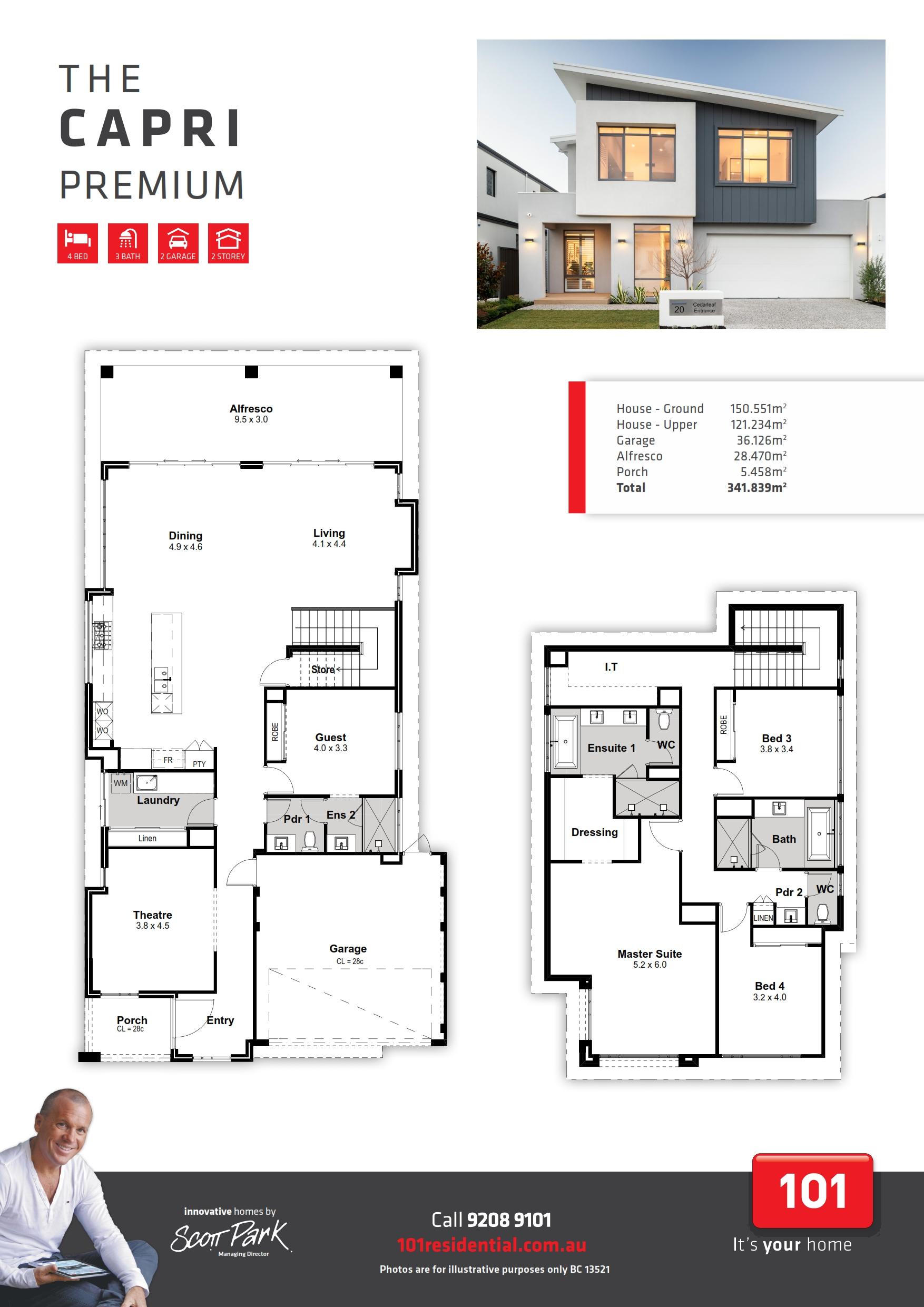 101 Premium A3 Floor Plan - Capri WEB_001