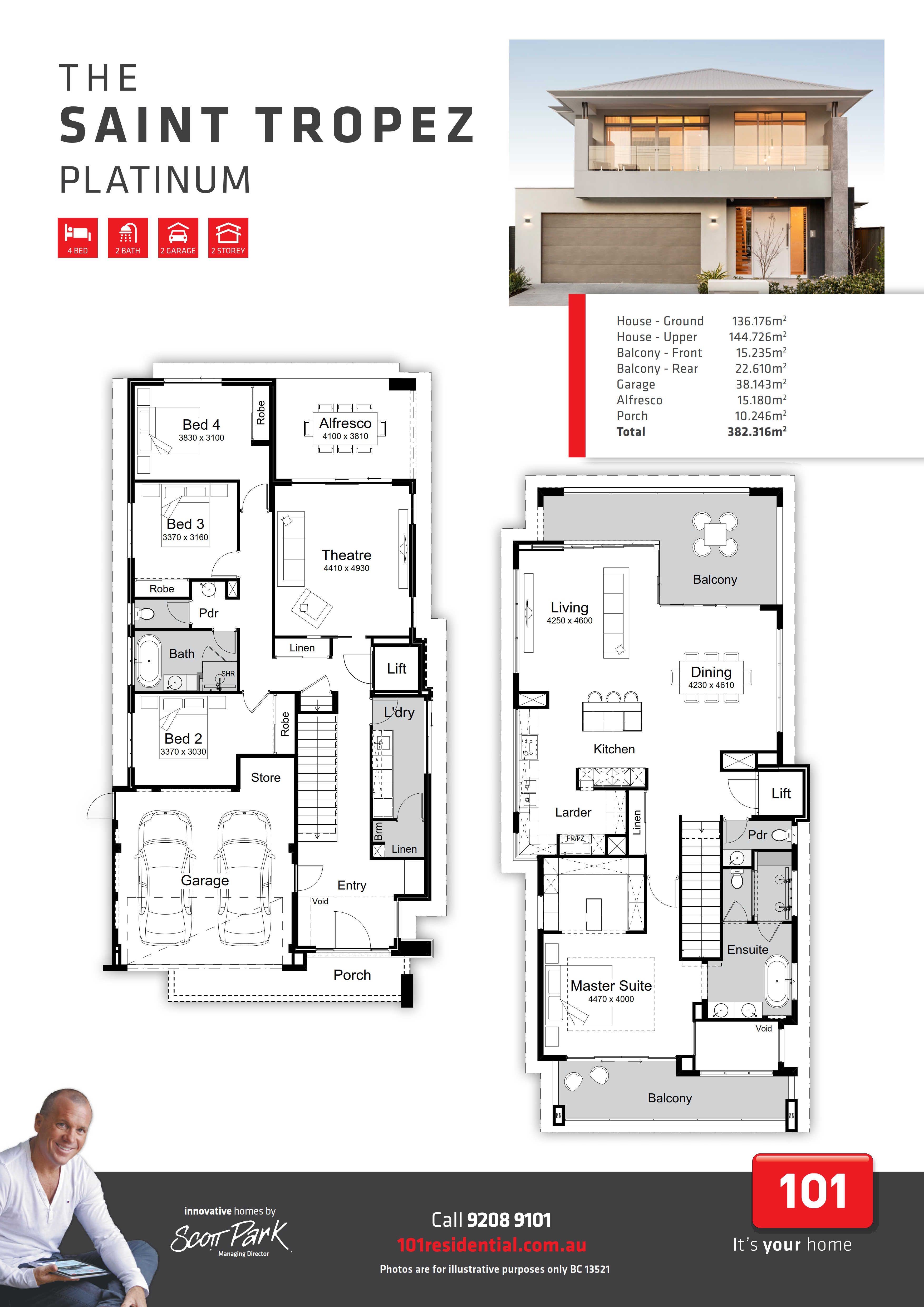 101 A3 Floor Plan - Saint Tropez Platinum WEB_001