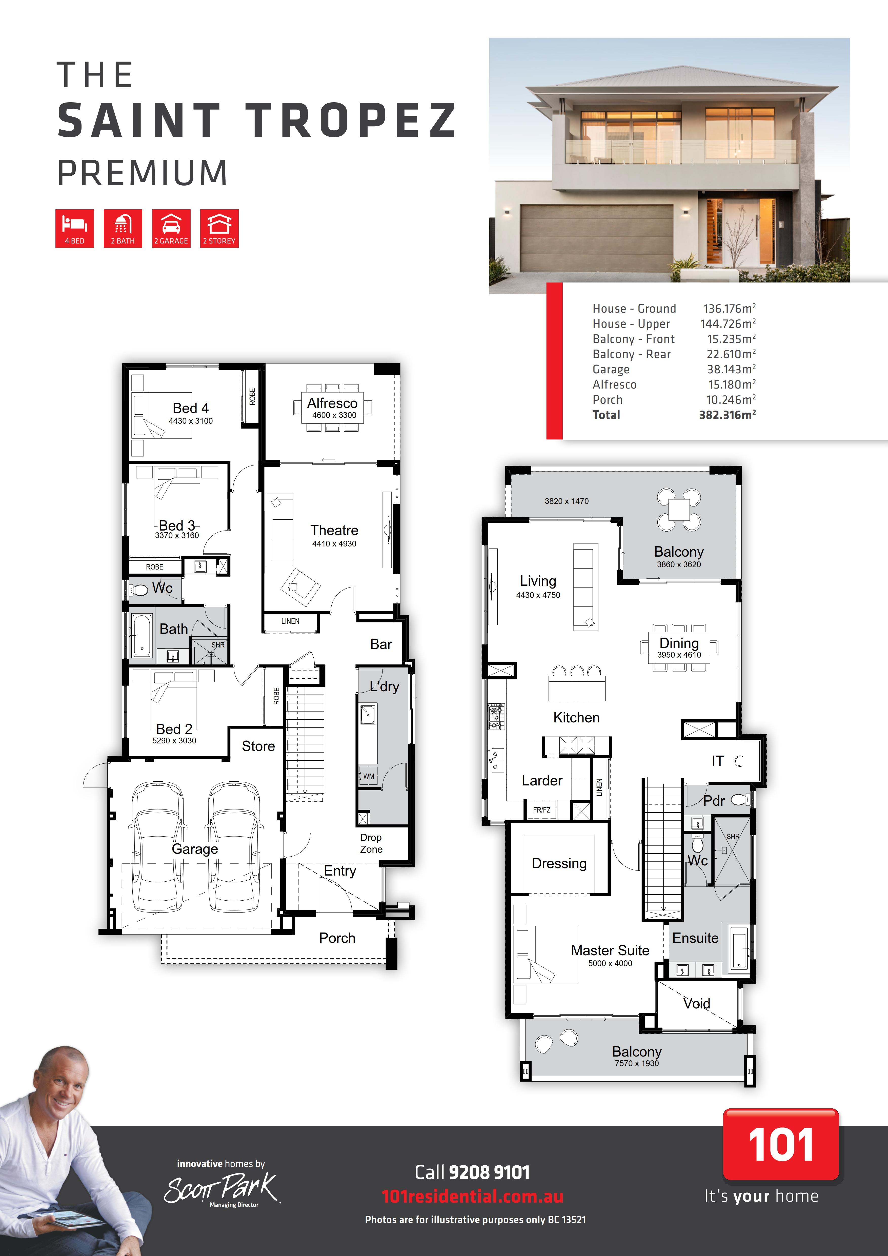 101 A3 Floor Plan - Saint Tropez Premium_001