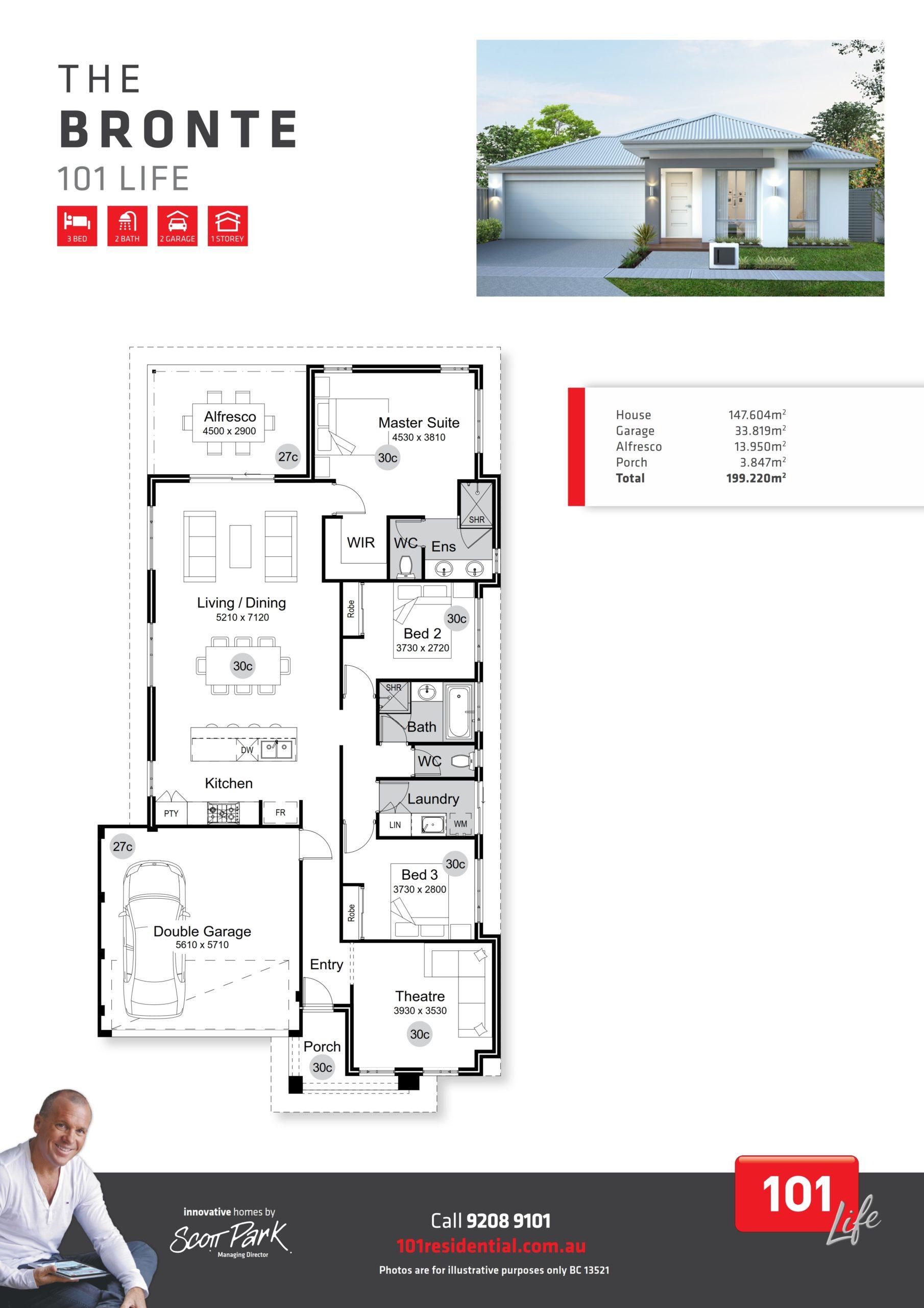 101 A3 Floor Plan - Bronte WEB_001