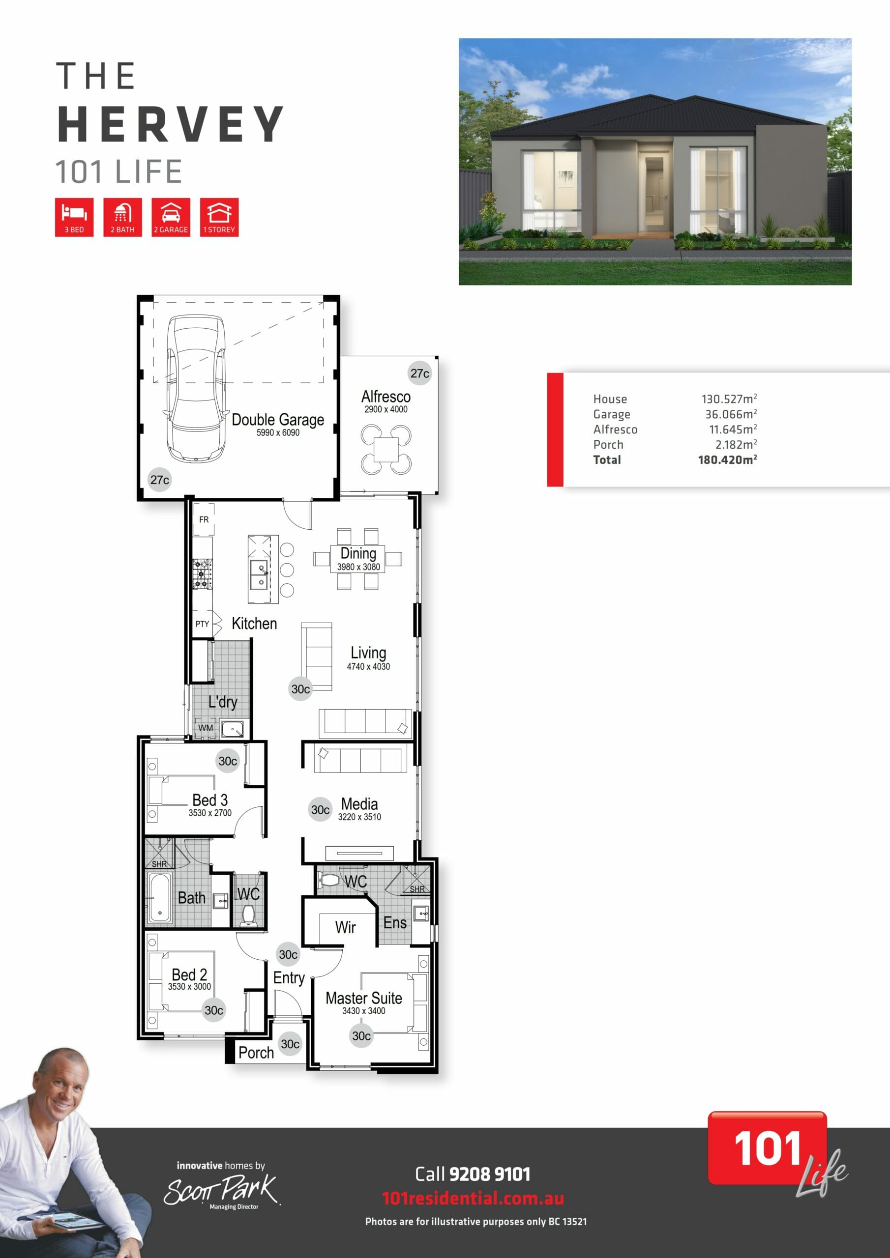101 A3 Floor Plan - Hervey WEB_001