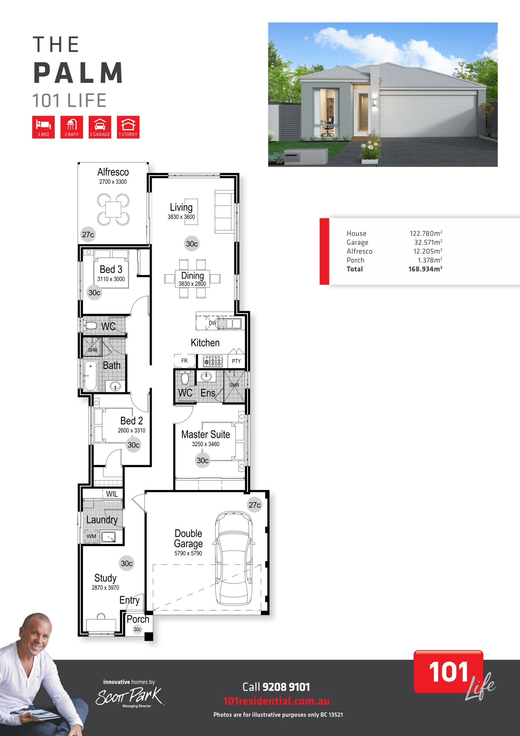 101 A3 Floor Plan - Palm WEB_001