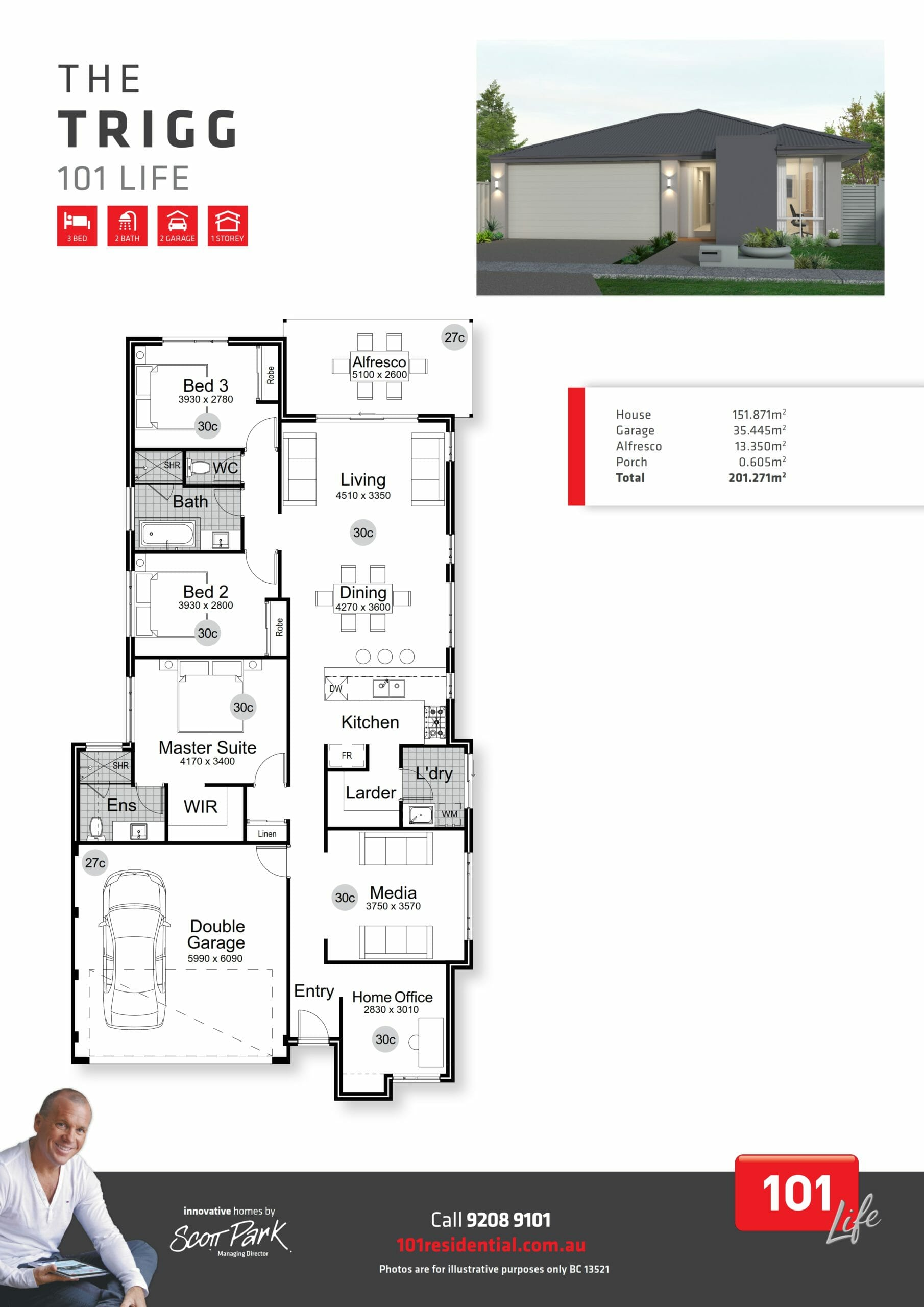 101 A3 Floor Plan - Trigg WEB_001