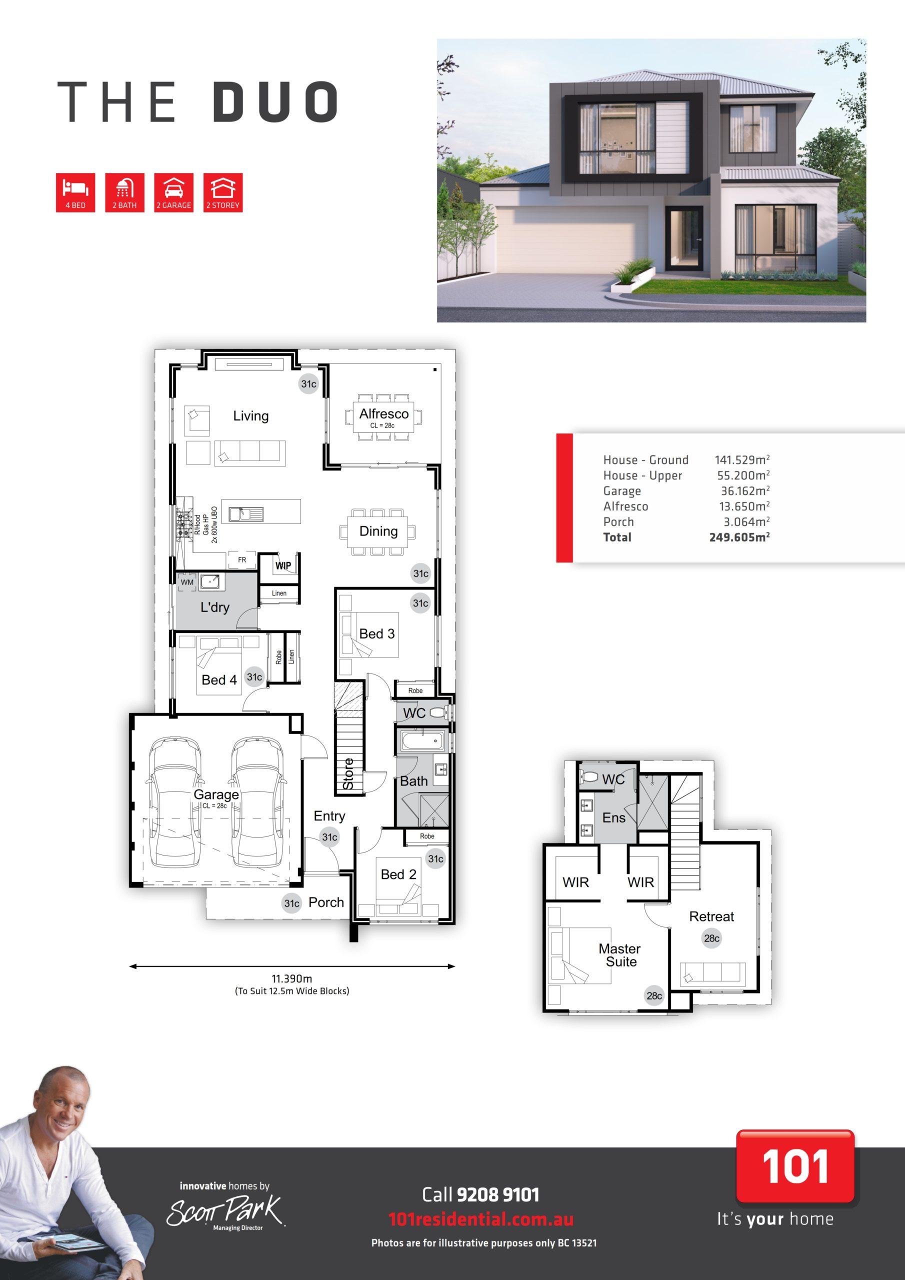 101 A3 Floor Plan - Duo WEB_001