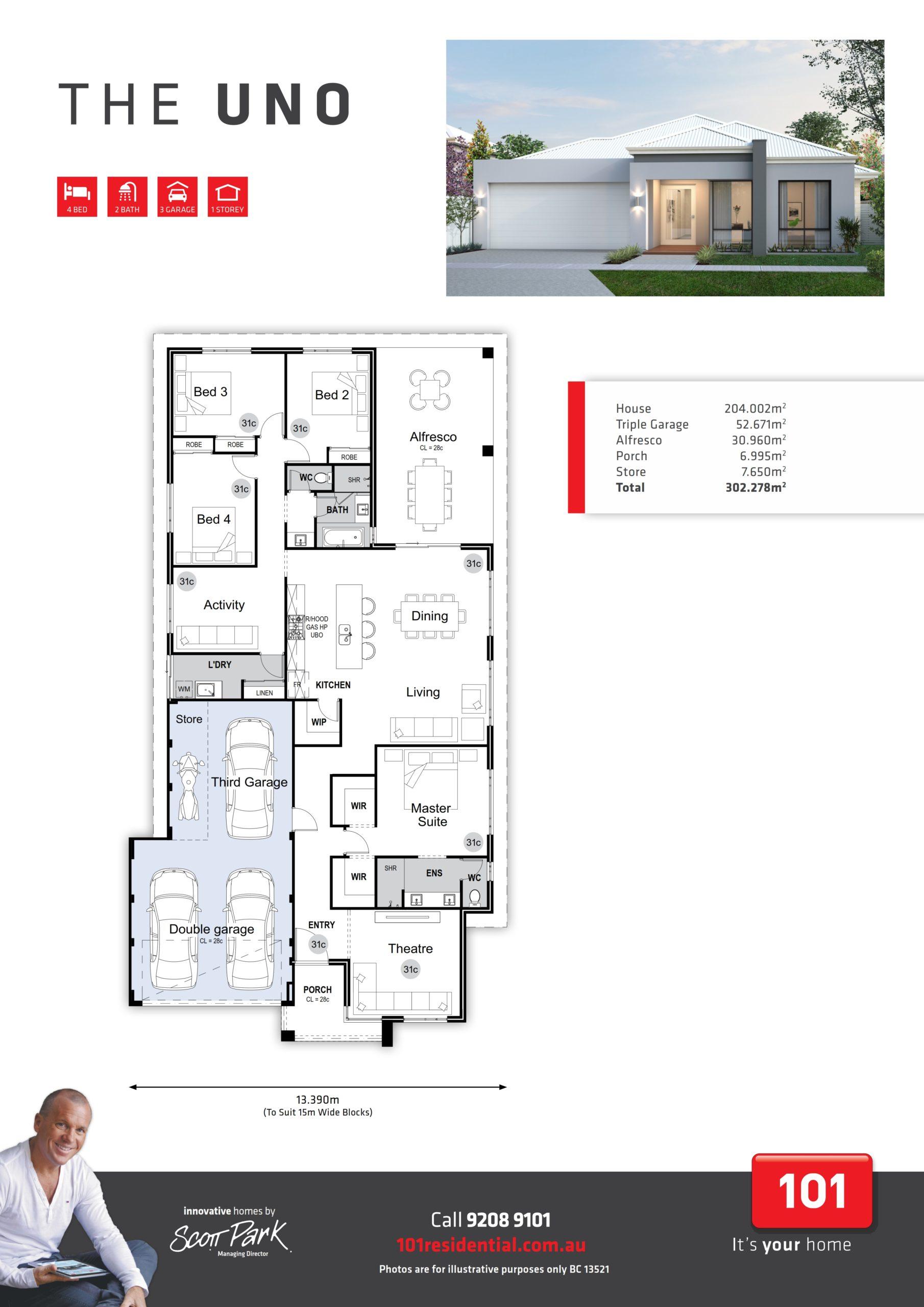 101 A3 Floor Plan - Uno WEB_001