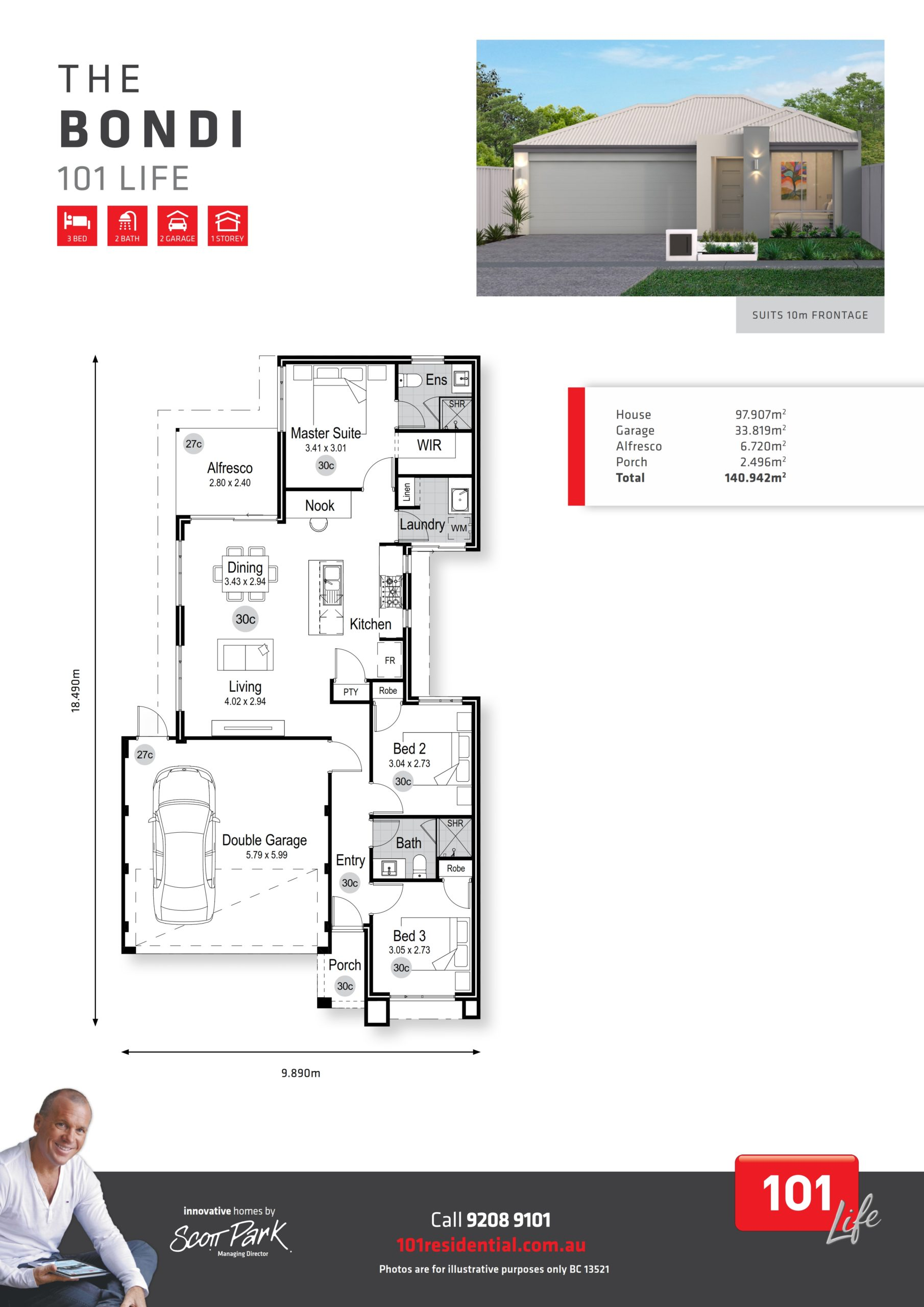 101 Life A3 Floor Plan - Bondi WEB_001