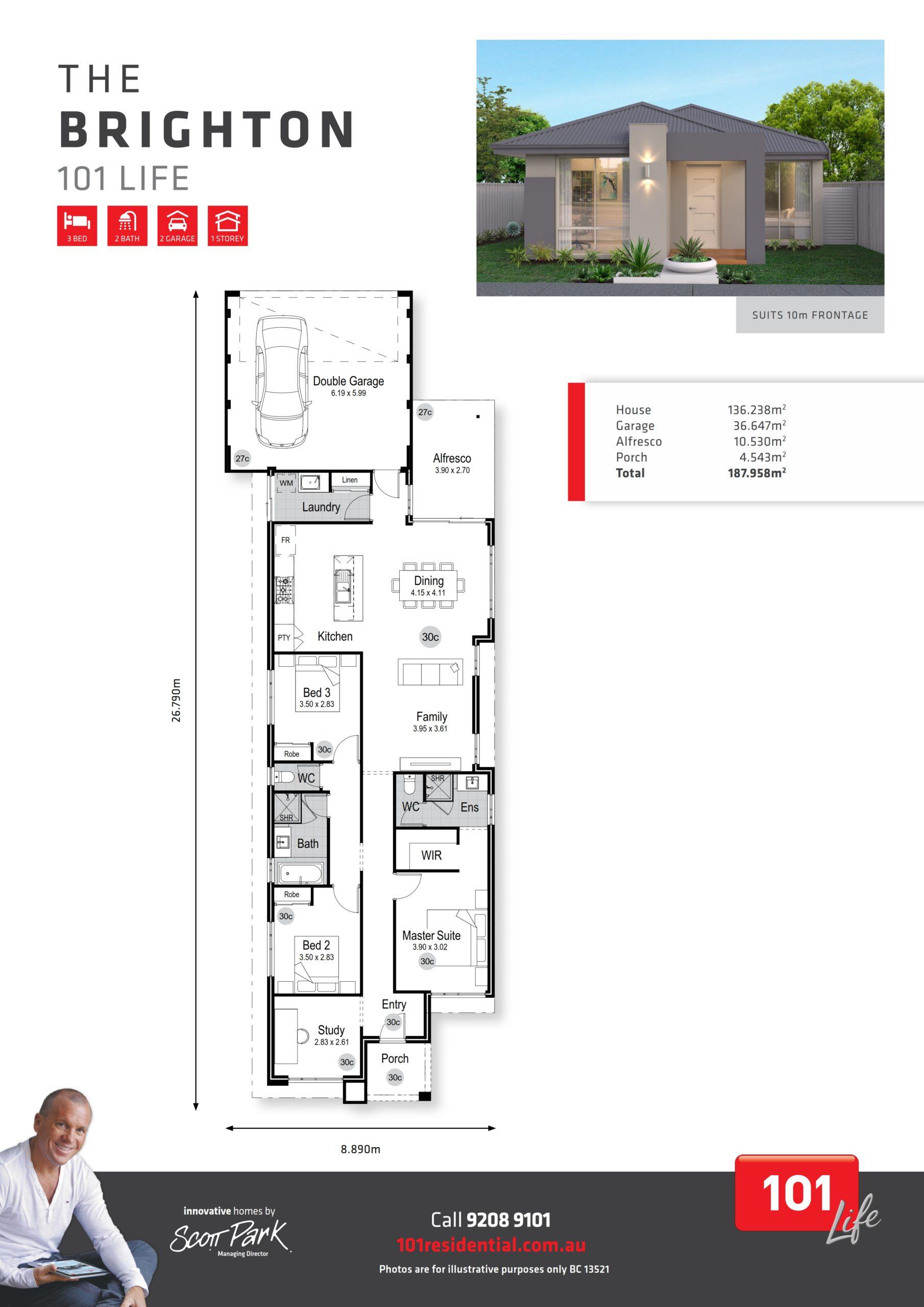 101 Life A3 Floor Plan - Brighton WEB_001