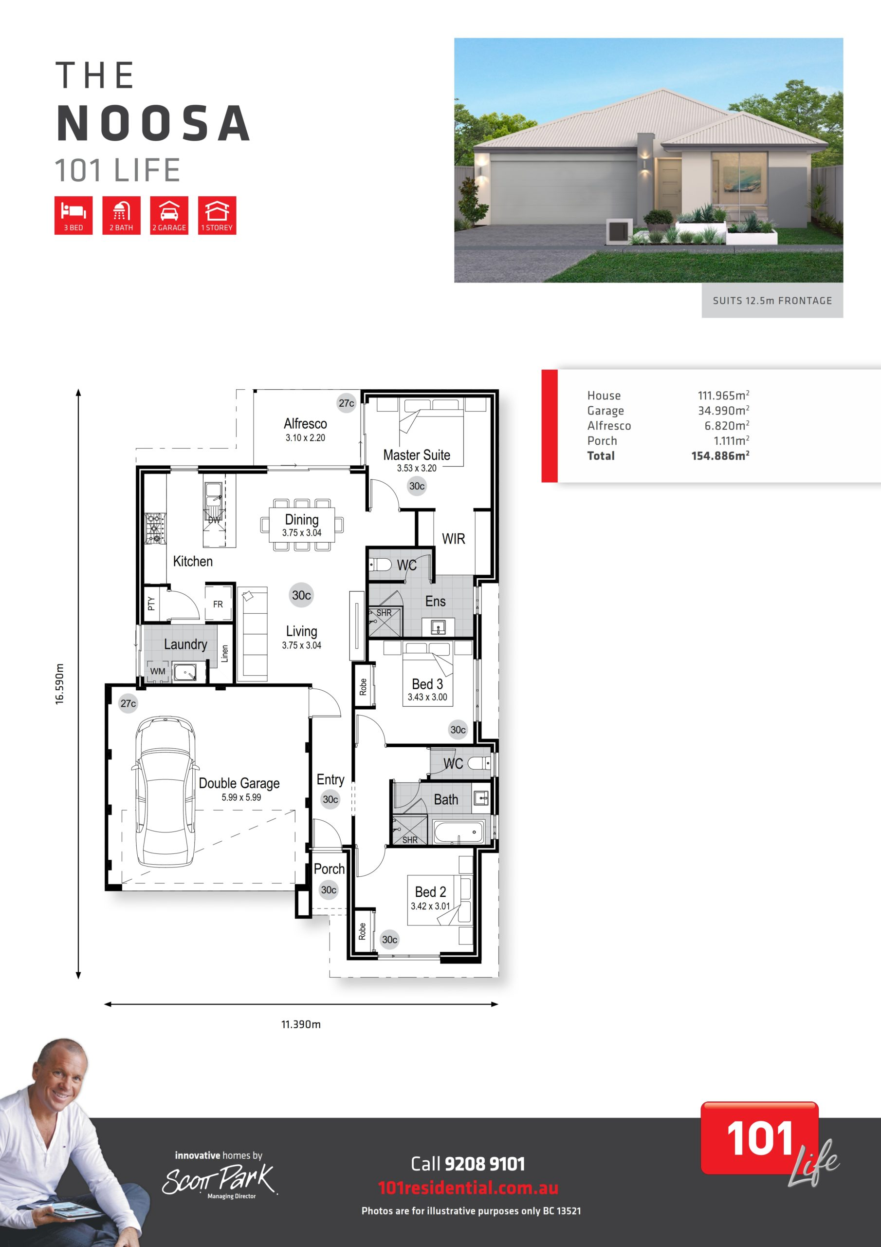 101 Life A3 Floor Plan - Noosa WEB_001