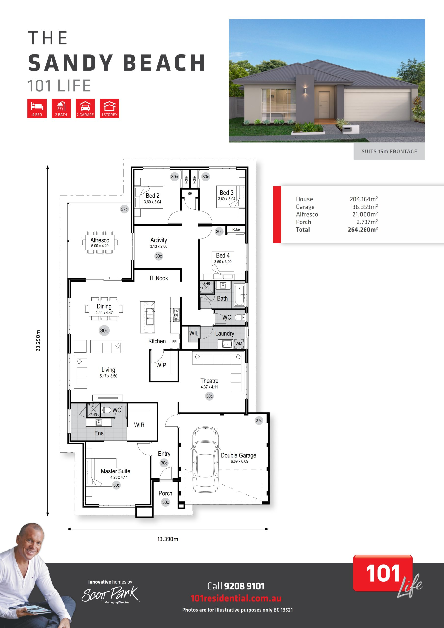 101 Life A3 Floor Plan - Sandy Beach WEB_001