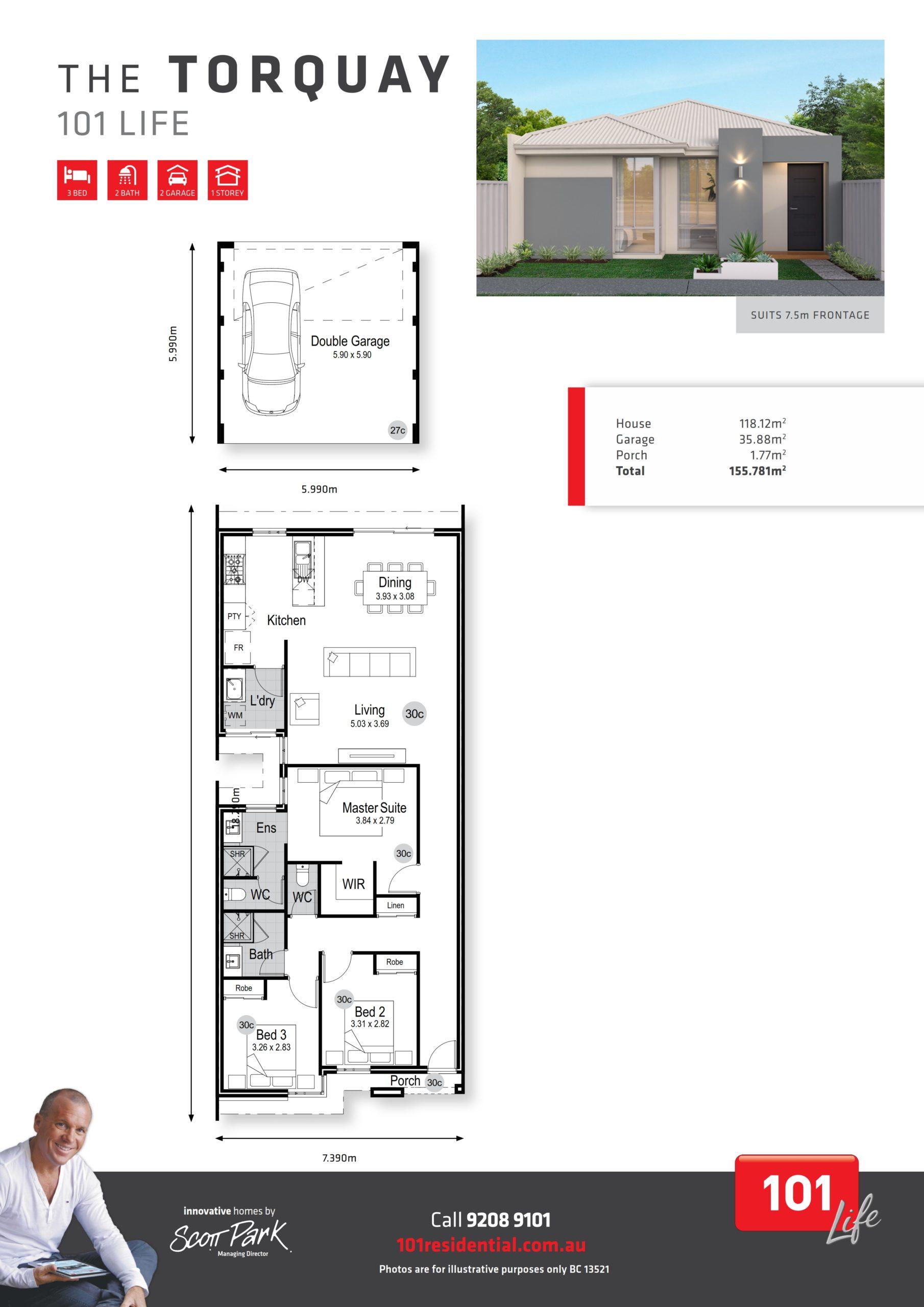 101 Life A3 Floor Plan - Torquay WEB_001