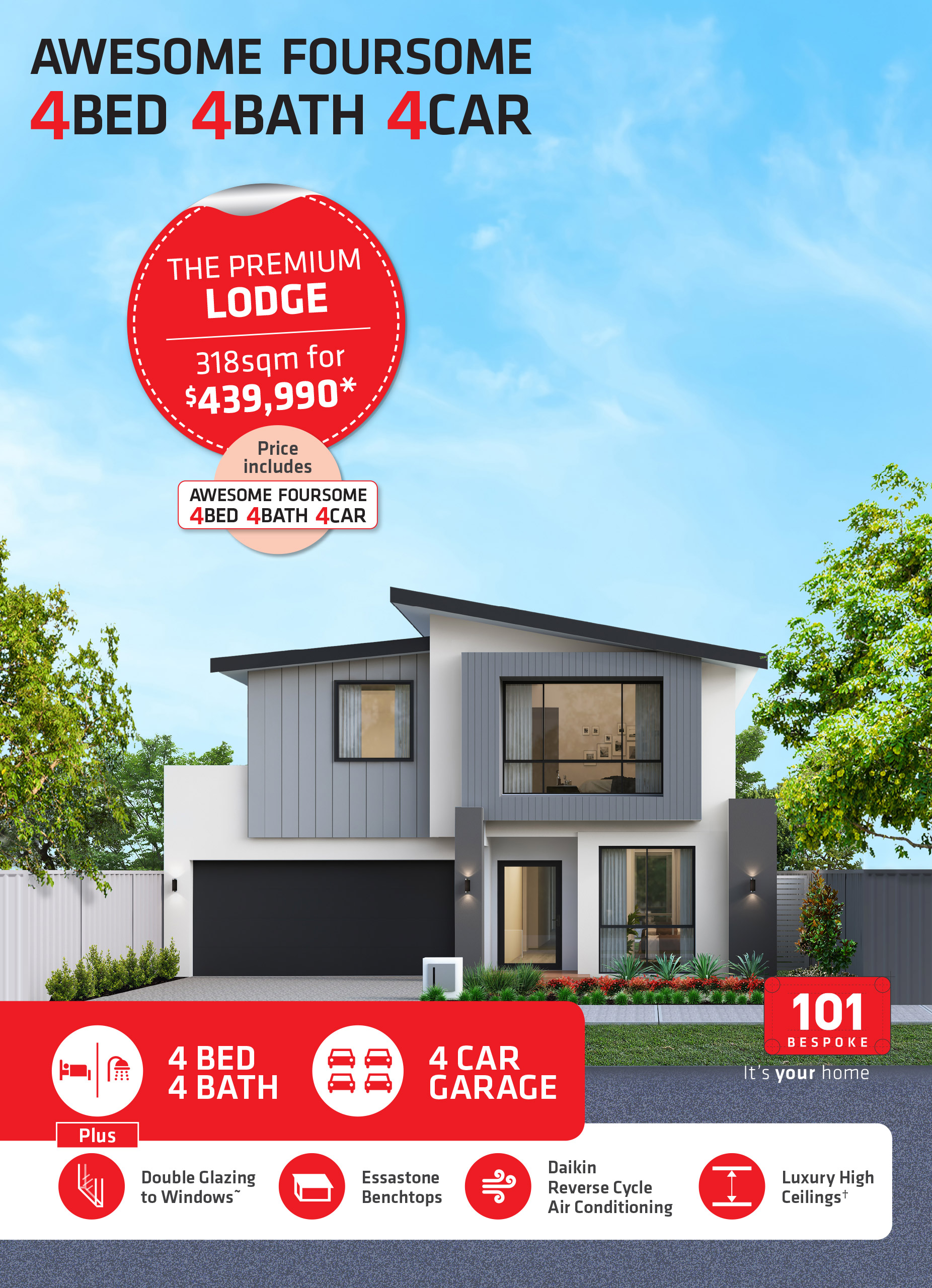 101 Residential Awesome Foursome promotion banner