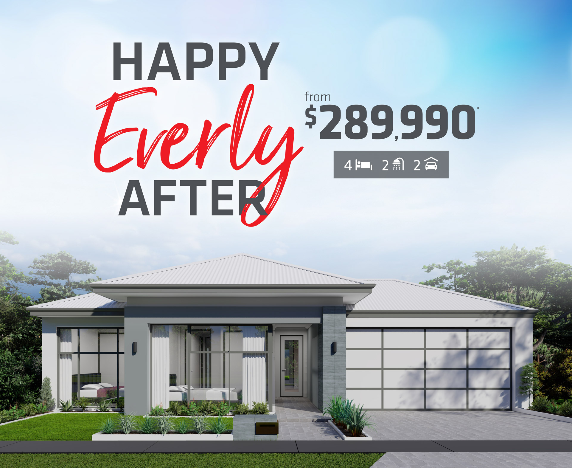 101 Residential Happy Everly After promotion banner
