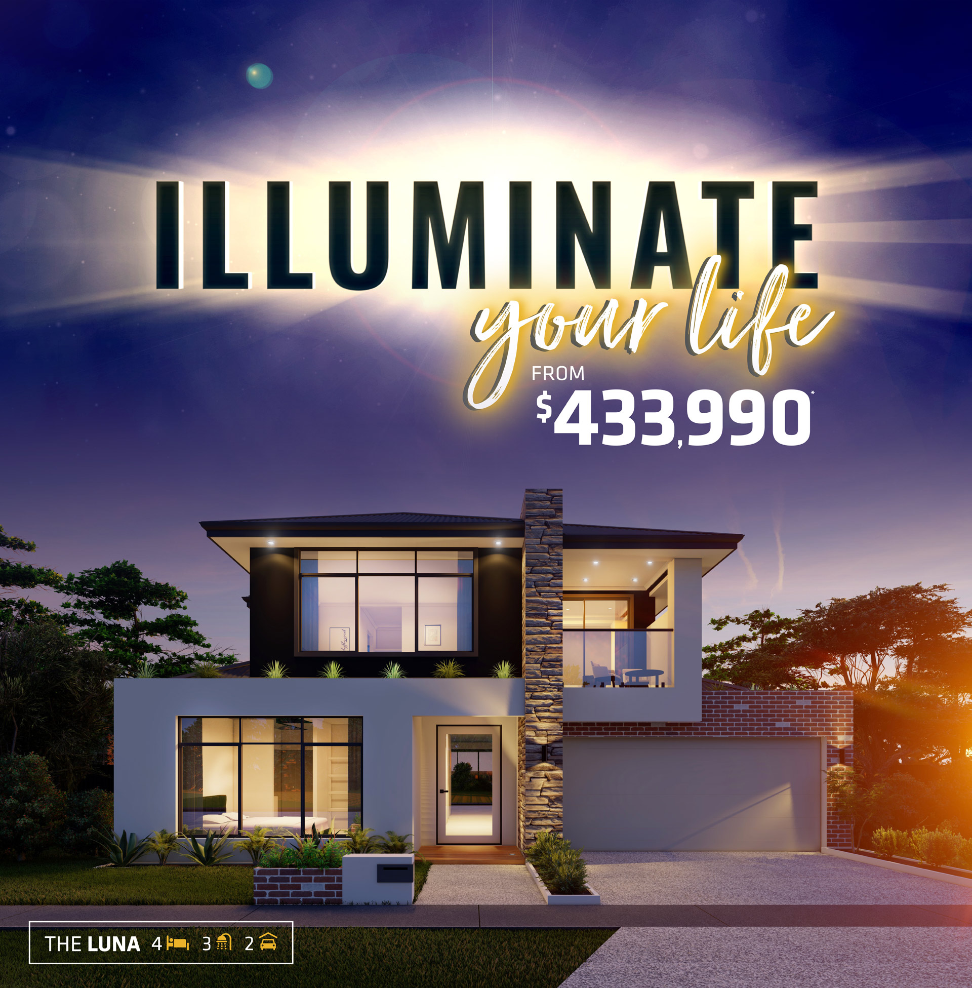 101 Residential Illuminate Your Life promotion banner